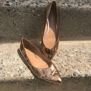 Calvin Klein pointy toe bronze Gailia shoe